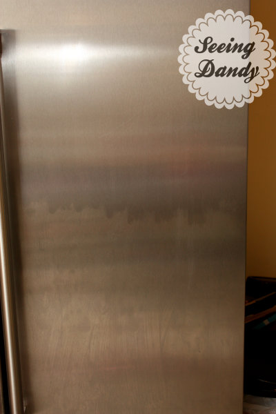 Using baby oil to clean stainless steel.