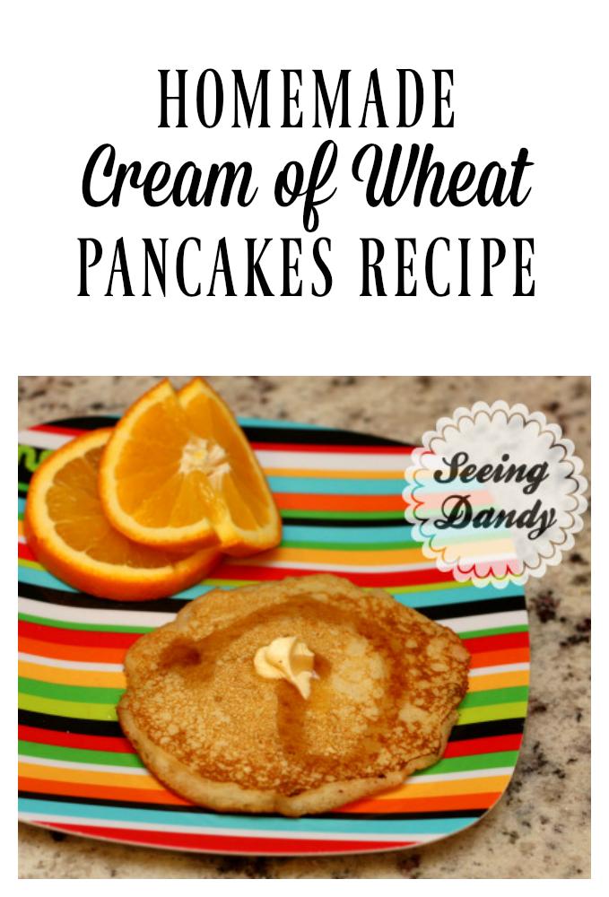 Easy to make homemade pancakes recipe using cream of wheat as the secret ingredient.