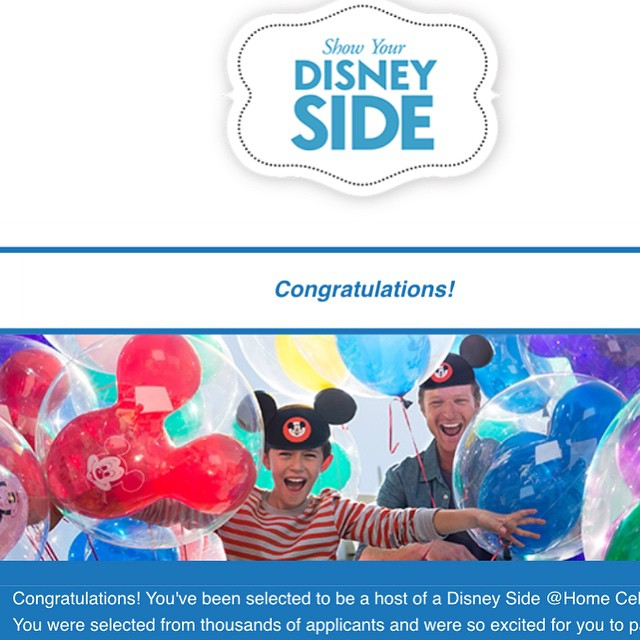 Disney Side at home celebration party.