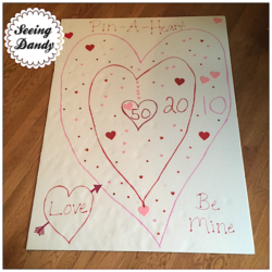 DIY Valentine Party Dartboard Game