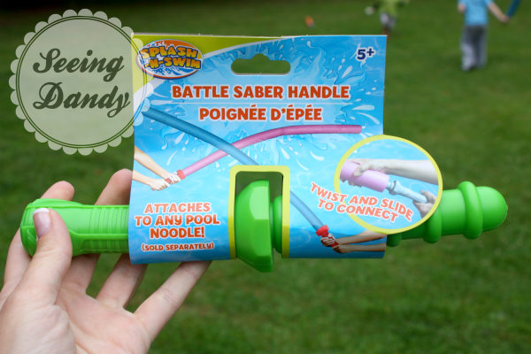 Battle saber handle for pool noodle
