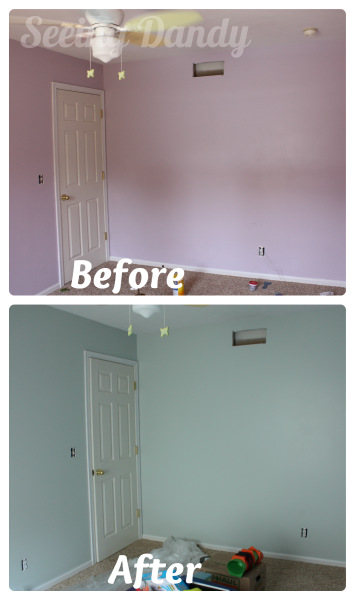 Purple2, purple bedroom, make over, Sherwin-williams Scanda, sherwin-williams sea salt, sherwin-wiliams, Olympic One, color match, purple room, blue room, boys bedroom, tween bedroom, boys tween bedroom
