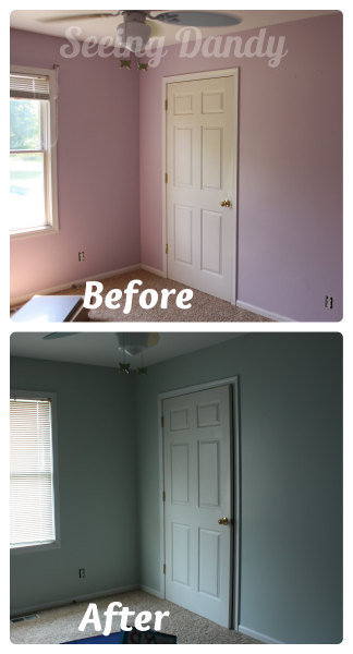 Purple3, purple bedroom, make over, Sherwin-williams Scanda, sherwin-williams sea salt, sherwin-wiliams, Olympic One, color match, purple room, blue room, boys bedroom, tween bedroom, boys tween bedroom