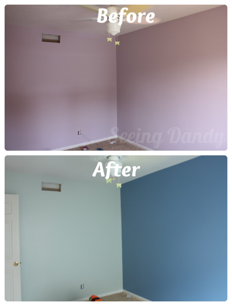 Purple5, purple bedroom, make over, Sherwin-williams Scanda, sherwin-williams sea salt, sherwin-wiliams, Olympic One, color match, purple room, blue room, boys bedroom, tween bedroom, boys tween bedroom