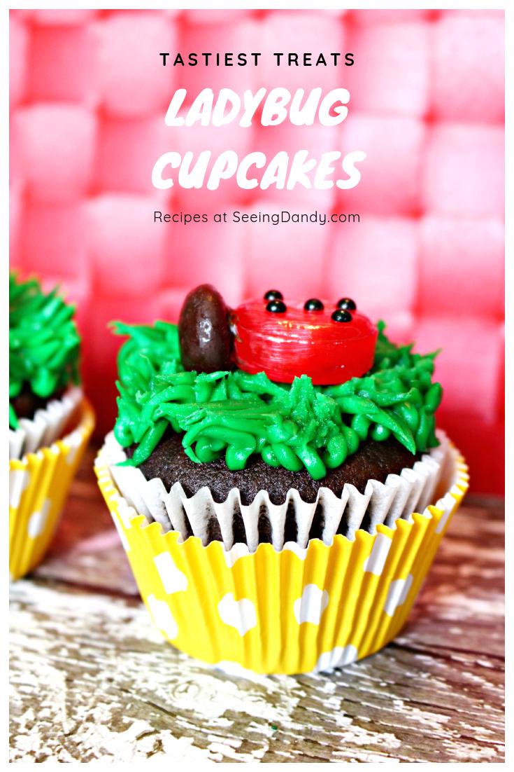 Tastiest treats ladybug birthday party cupcakes recipe.