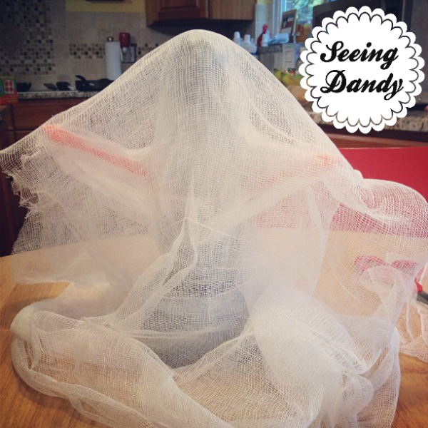 ghost form, diy cheesecloth ghosts, halloween decor, kids craft, fall decorating, halloween crafts