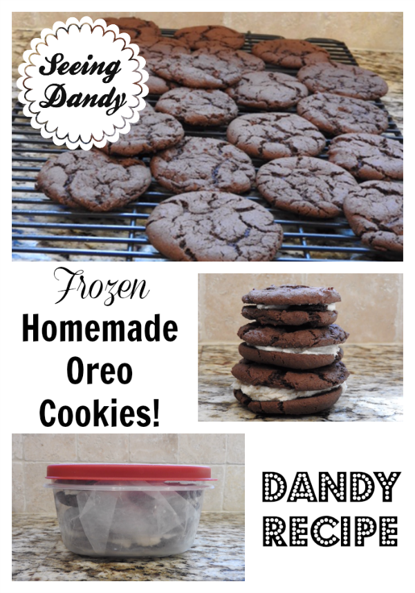 Easy to make frozen homemade Oreos.