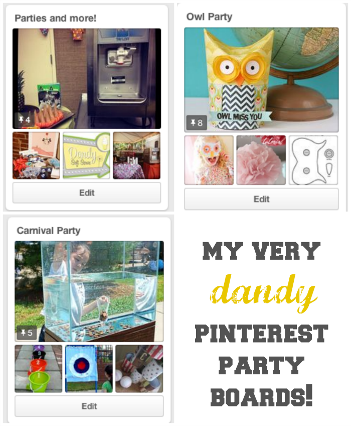 Seeing Dandy Pinterest boards.