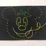 Easy To Make Halloween Mickey Kids Stitch Craft