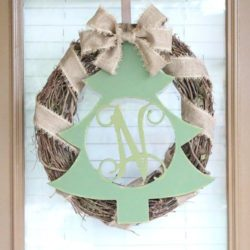 Unfinished Wood Monogram Christmas Tree!