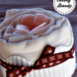 diy burp cloth cupcakes, baby shower gift, gift ideas, prefold cloth diapers