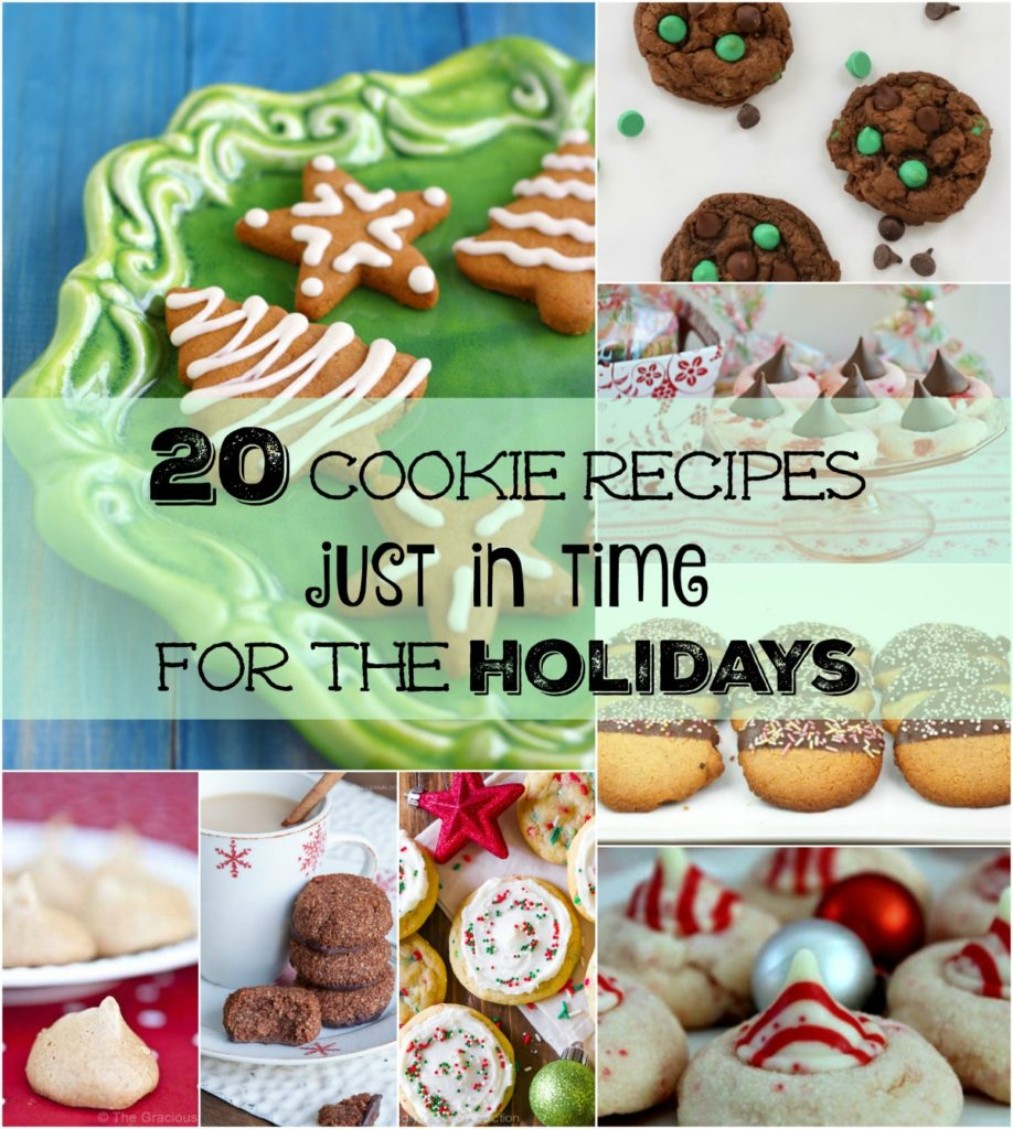 Holiday cookie recipes just in time for the holidays.