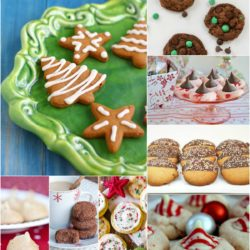 Delicious holiday cookie recipes. Christmas tree cookies and candy cane cookies.