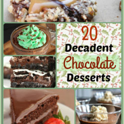 Decadent chocolate desserts for the holidays.