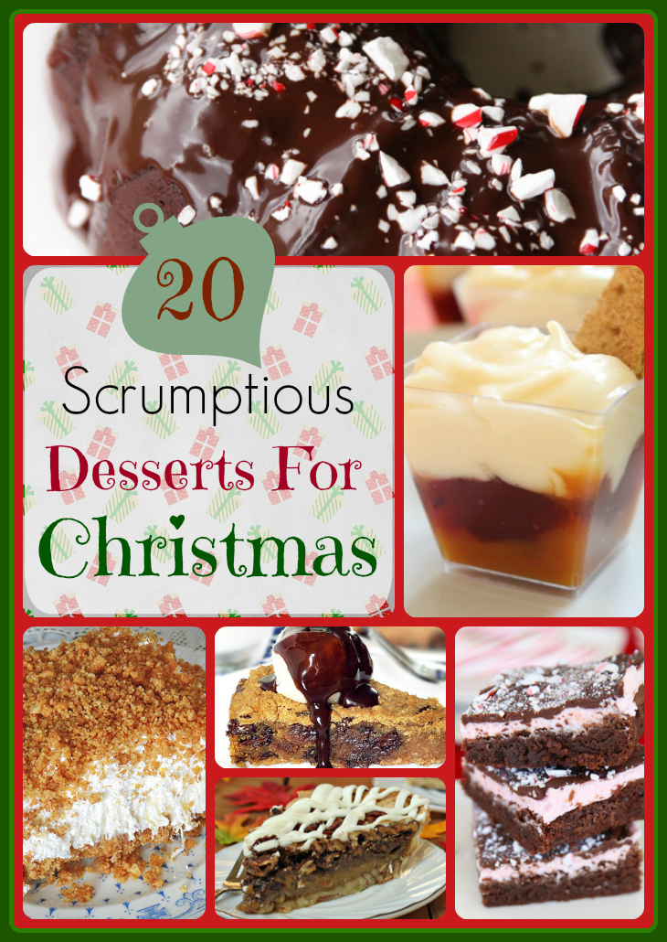 A - 20 Scrumptious Desserts For Christmas - Words