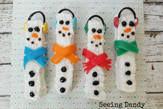White chocolate snowmen recipe. Easy to make.
