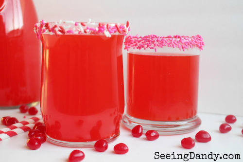 Valentine's Day punch made with Red Hots candy.