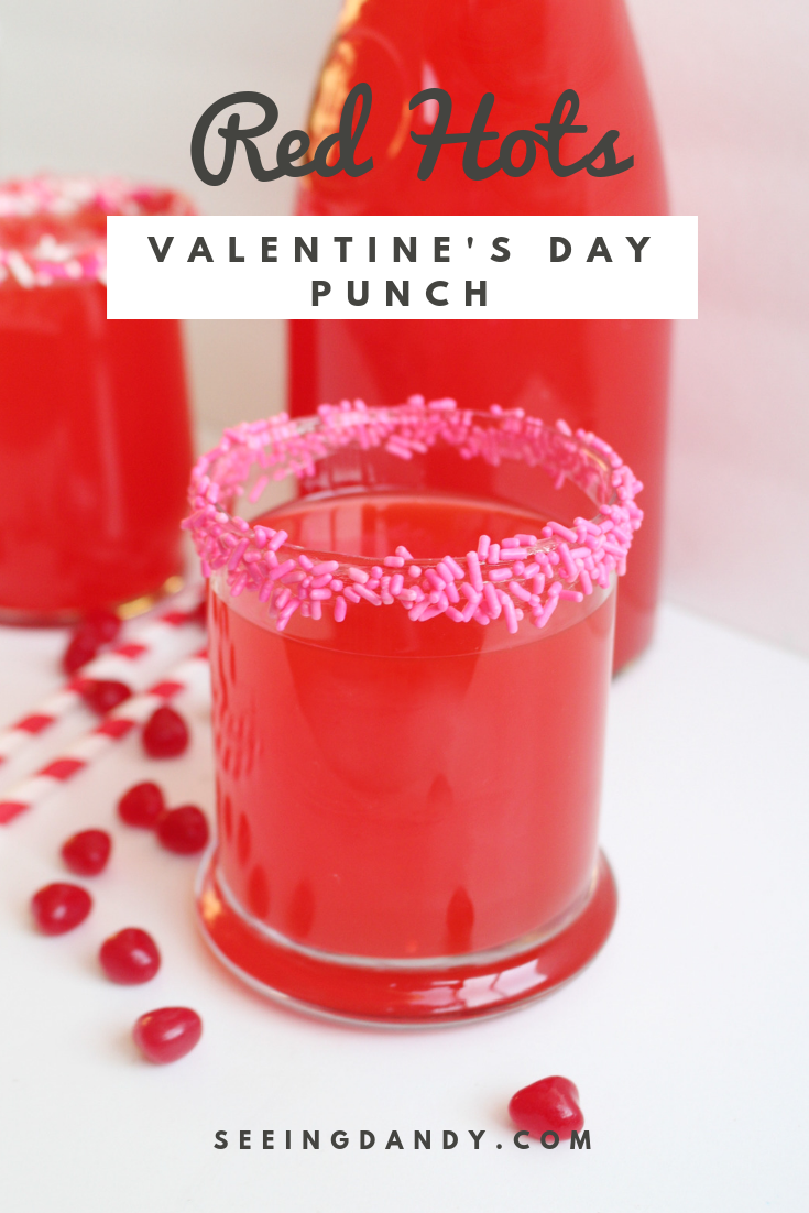 Delicious Red Hots Valentine's Day Punch recipe.