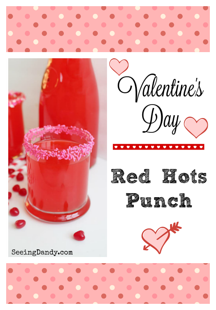 Easy to make Valentine's Day punch.