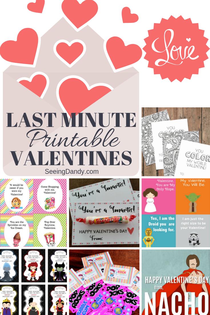 Free printable last minute Valentines.