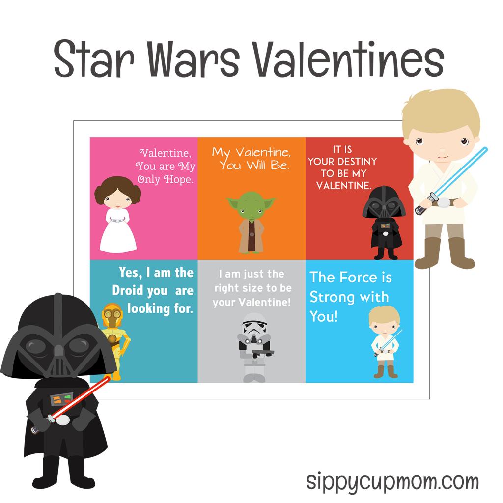 Star Wars printable last minute Valentines.