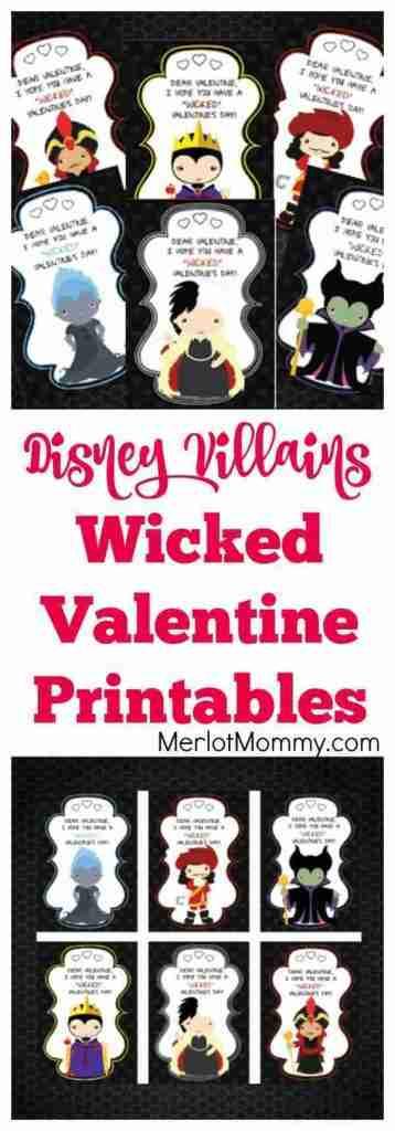 Disney Villains printable Valentine.
