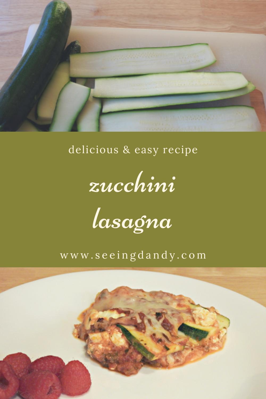 Delicious zucchini lasagna recipe