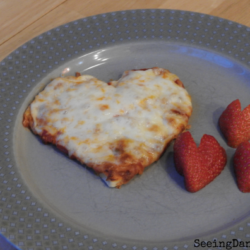 Gluten Free Heart Shaped Personal Pizzas