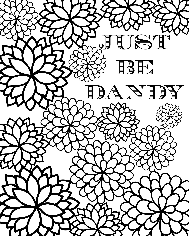 just be dandy free coloring sheet printable