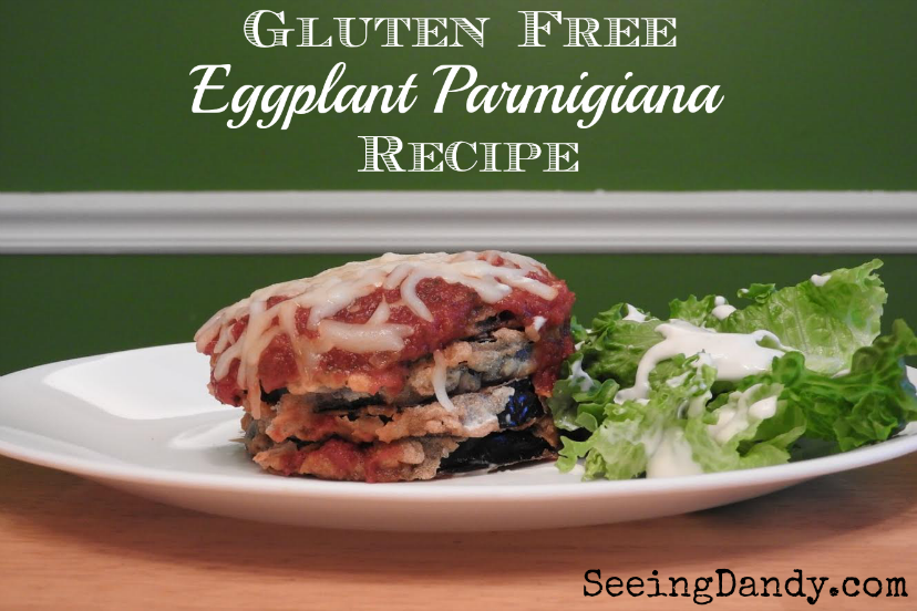 Easy to make gluten free eggplant parmigiana.
