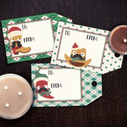 Printable Christmas gift tags in a Southwest theme with candles.