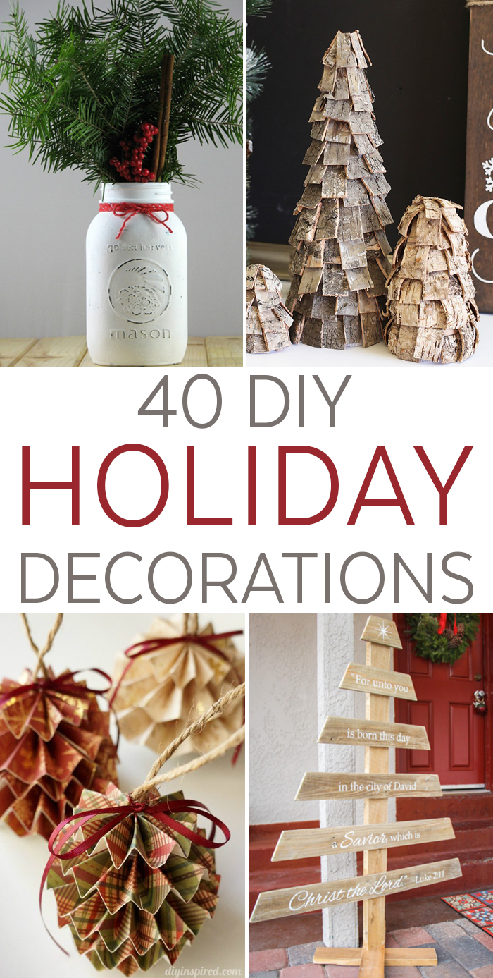 Top 40 Easy DIY Holiday Decorations For Christmas - Seeing Dandy