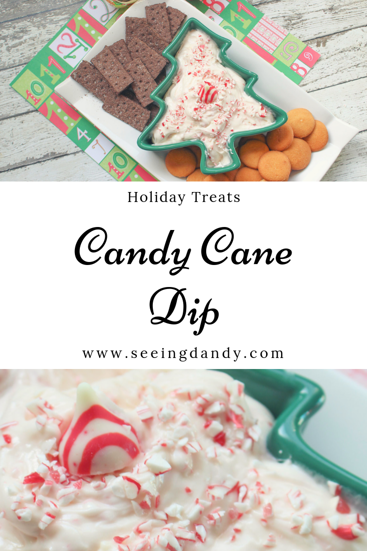 Delicious candy cane dip holiday treat.