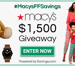 Macy's Holiday Giveaway #MacysFFSavings