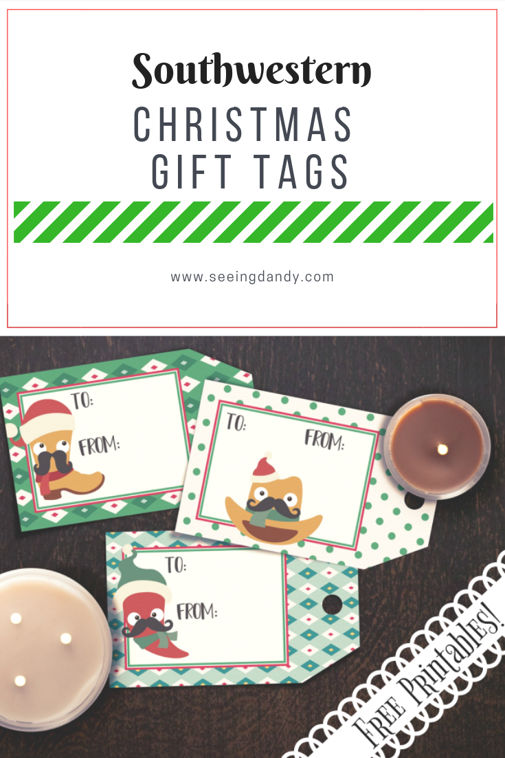 Southwestern Christmas gift tags printable.