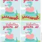 DIY Free Printable Snake Valentines