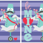 Free Printable Mustache Robot Valentines