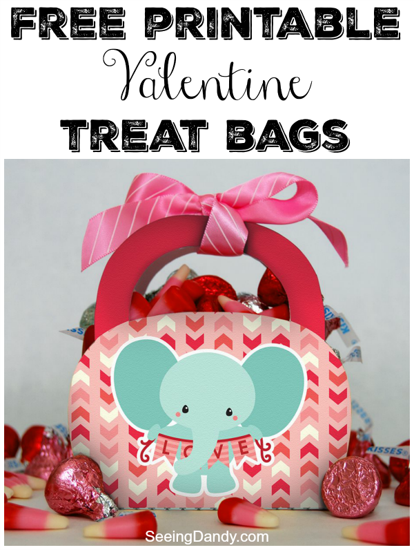 Easy to make DIY Valentine treat bags with free printable.