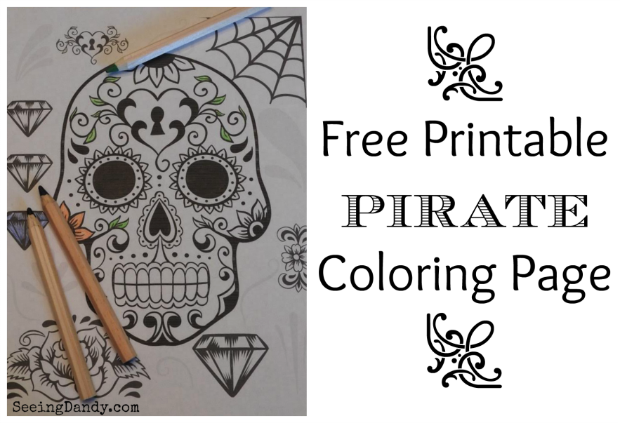 graphic relating to Pirates Printable identified as Cost-free Printable Pirate Coloring Webpage + Pirates Clean Online video
