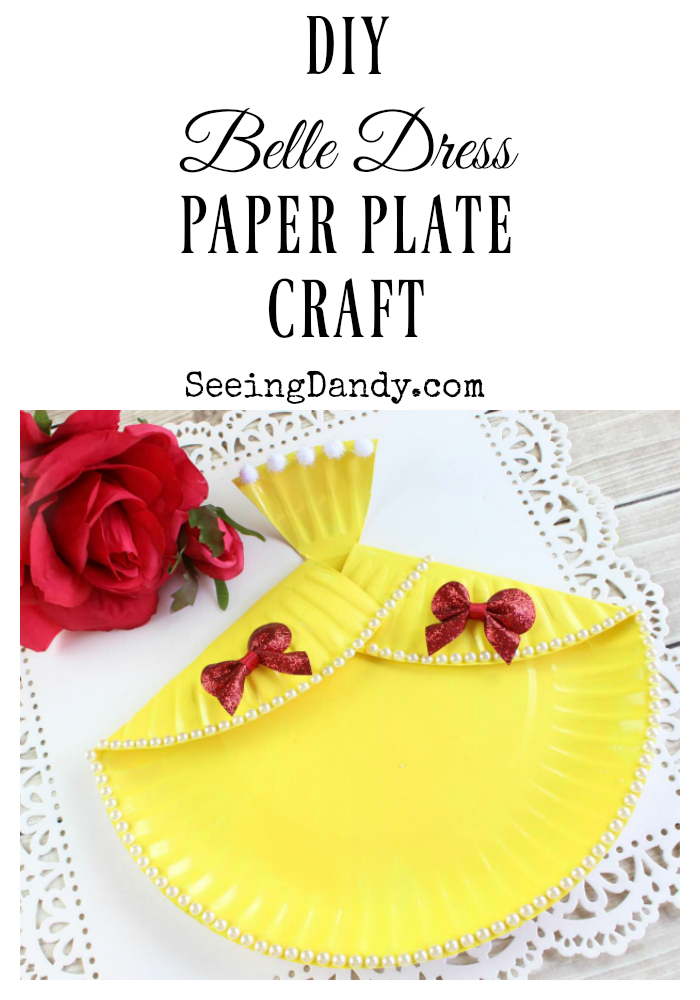 easy diy belle dress paper plate craft seeing dandy