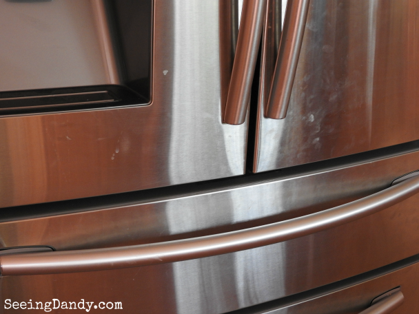 Cleaning stainless steel smudges and fingerprints.