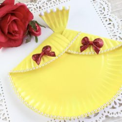 Easy DIY Belle Dress Paper Plate Craft
