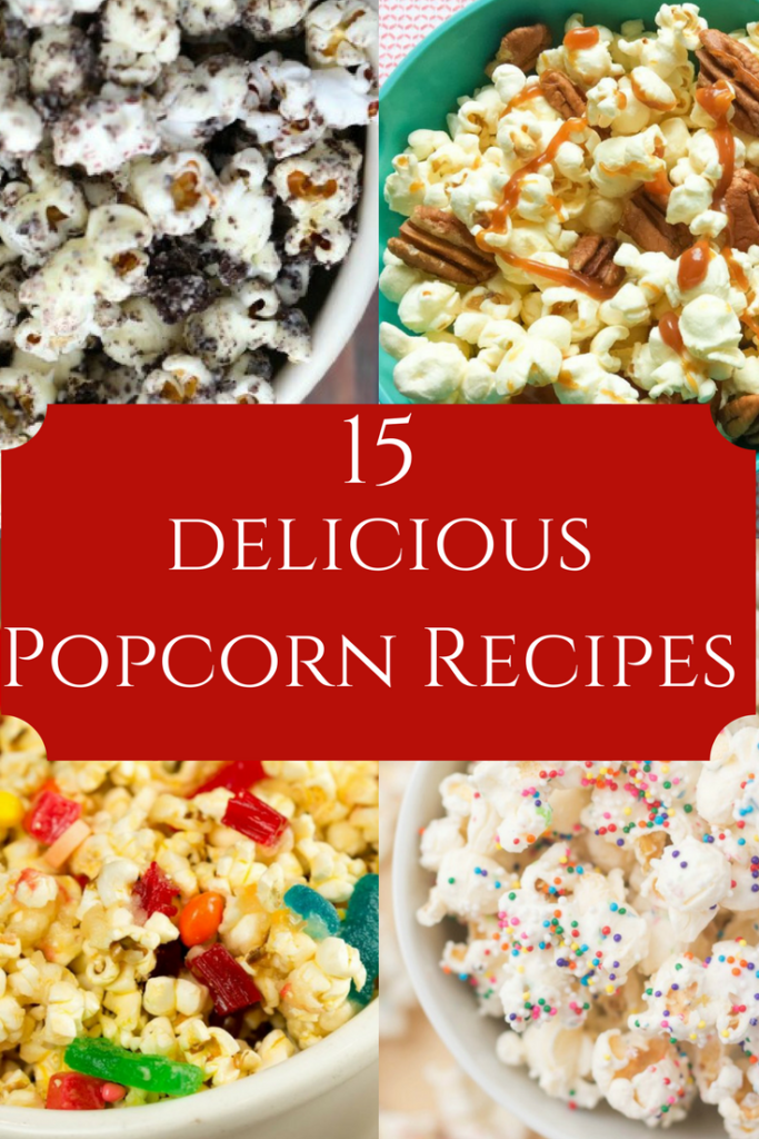 Easy to make delicious popcorn recipes perfect for movie night.