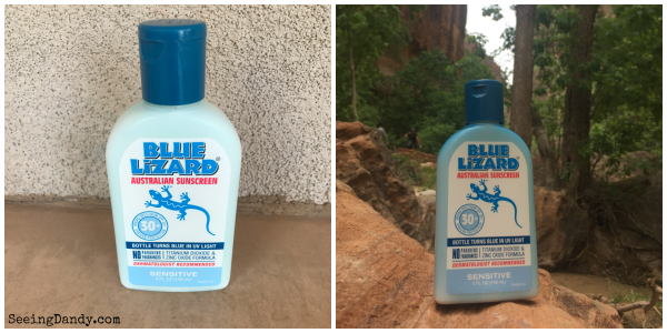 color changing Blue Lizard sunscreen
