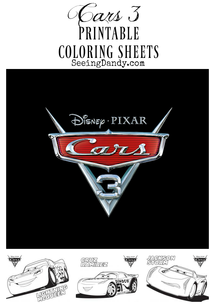 Free Disney Cars 3 Printable Coloring Sheets Seeing Dandy