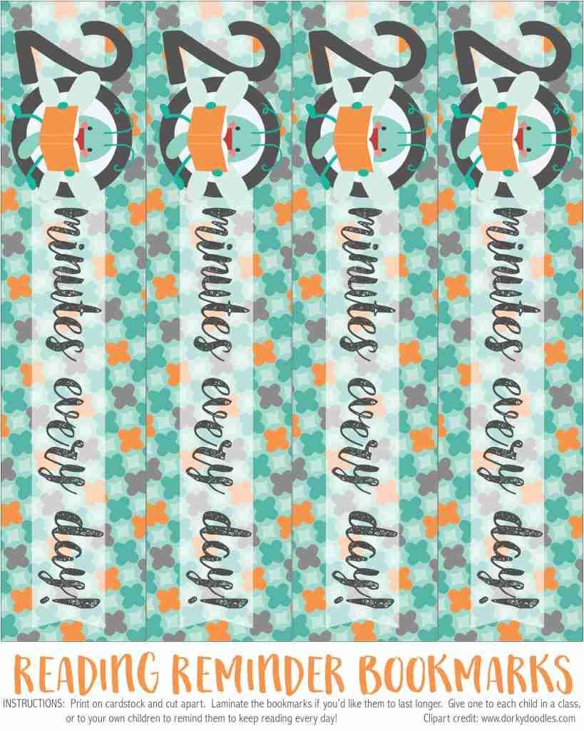 DIY printable bookmark for children's books.