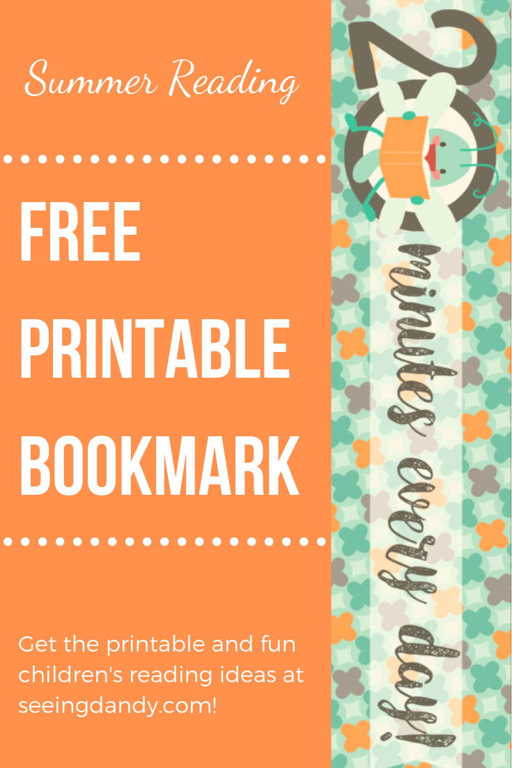 Summer reading easy to make free printable bookmark.