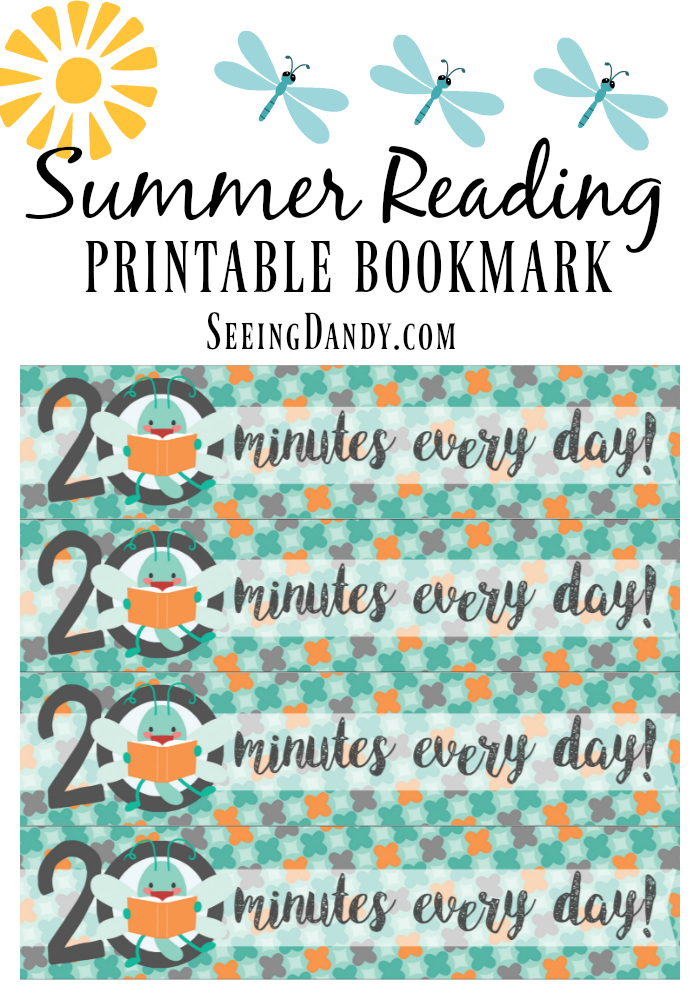Easy to make kid's bookmark for summer reading.