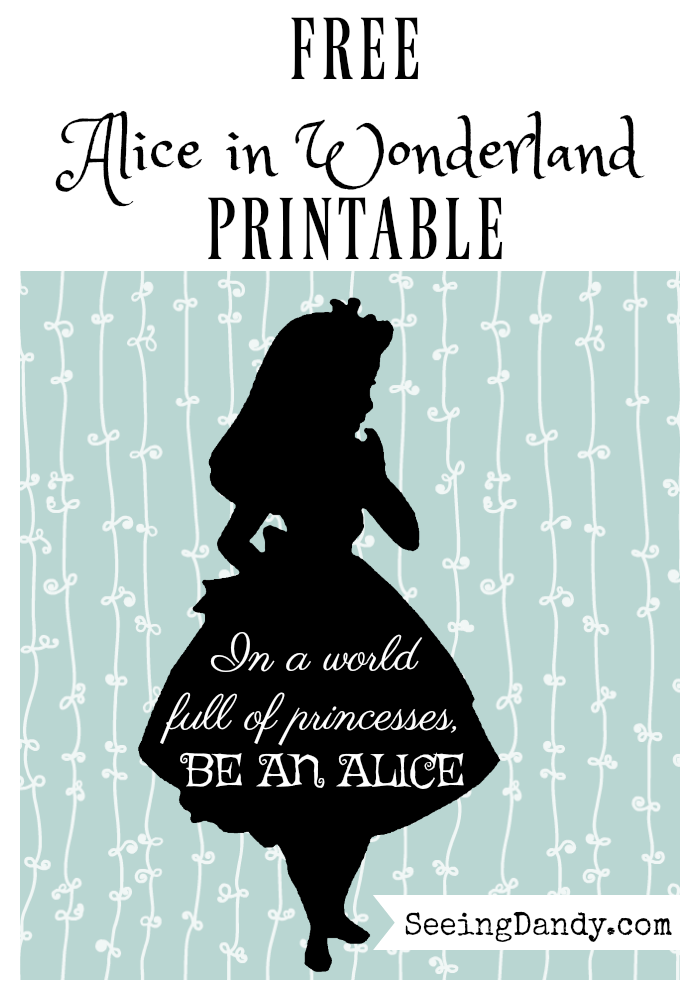 Free Alice In Wonderland printables.