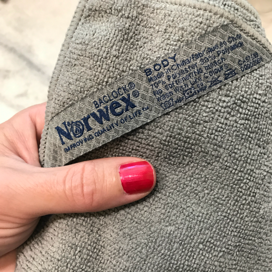 how to clean norwex body cloth